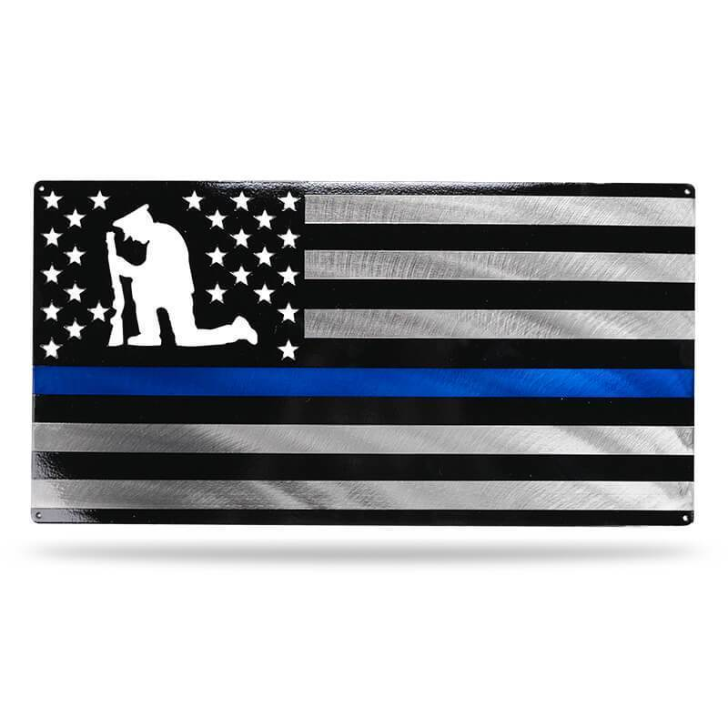 The Law Enforcement Flag - Redline Steel