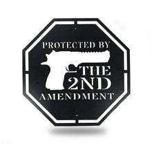 Load image into Gallery viewer, Protected by 2nd Amendment - Redline Steel