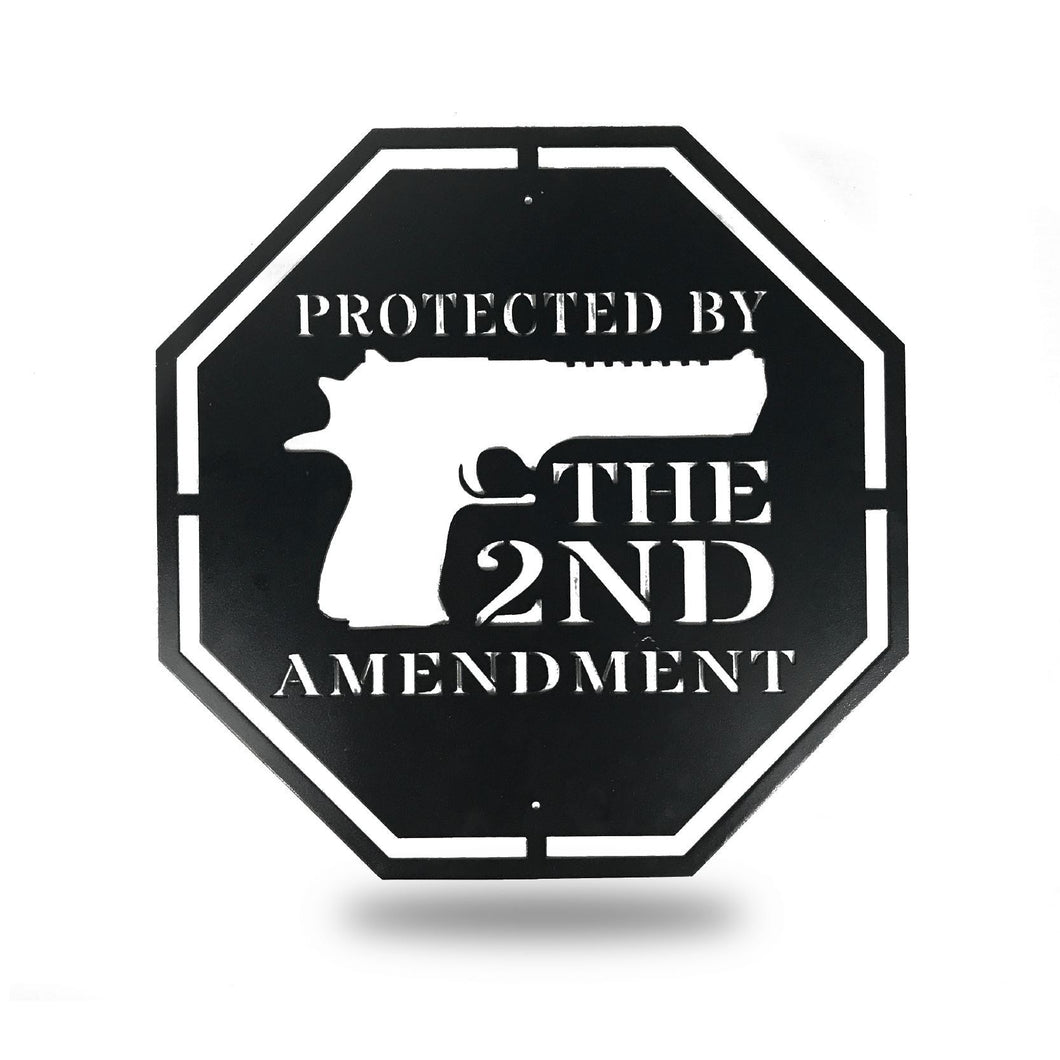 Protected by 2nd Amendment - Redline Steel