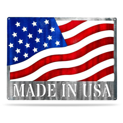 Made in USA Flag - Redline Steel