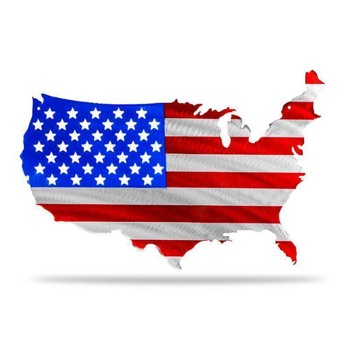 US CONUS Flag (Multi Color Option) - Redline Steel