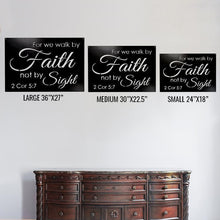 "Load image into Gallery viewer, Quote - ""...Walk by Faith not by sight"" - Redline Steel"