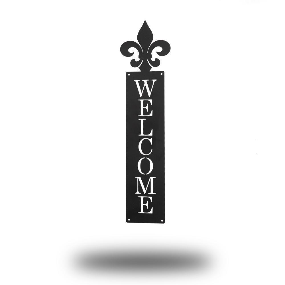Fleur-De-Lis Welcome Sign - Redline Steel