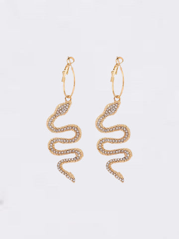 Snake Dimante Earrings