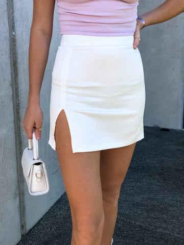 Loaded Gun Skirt- White