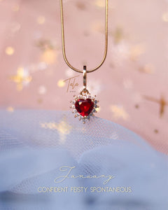 Tala by Kyla Heart Birthstone Necklaces