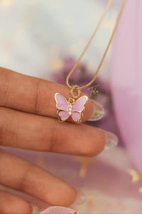 Tala by Kyla BTS Inspired Pastel Butterfly Necklace