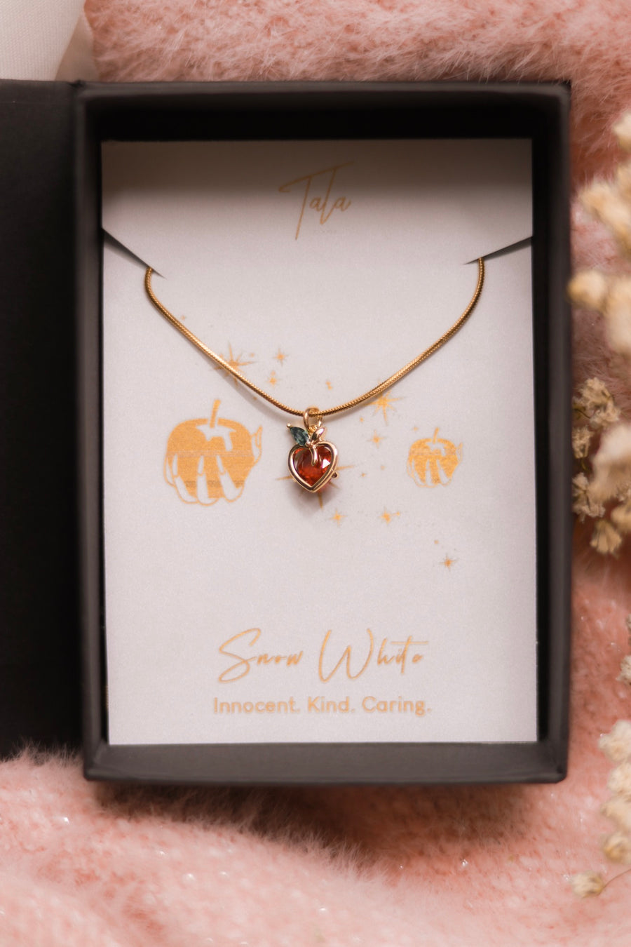 Snow White's Heart Apple Necklace