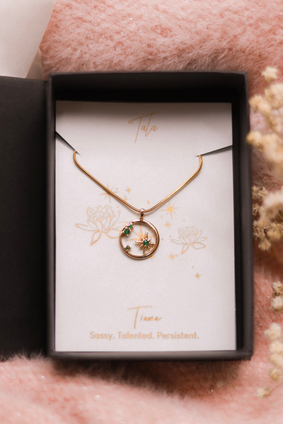 Tiana Emerald Evangeline Necklace