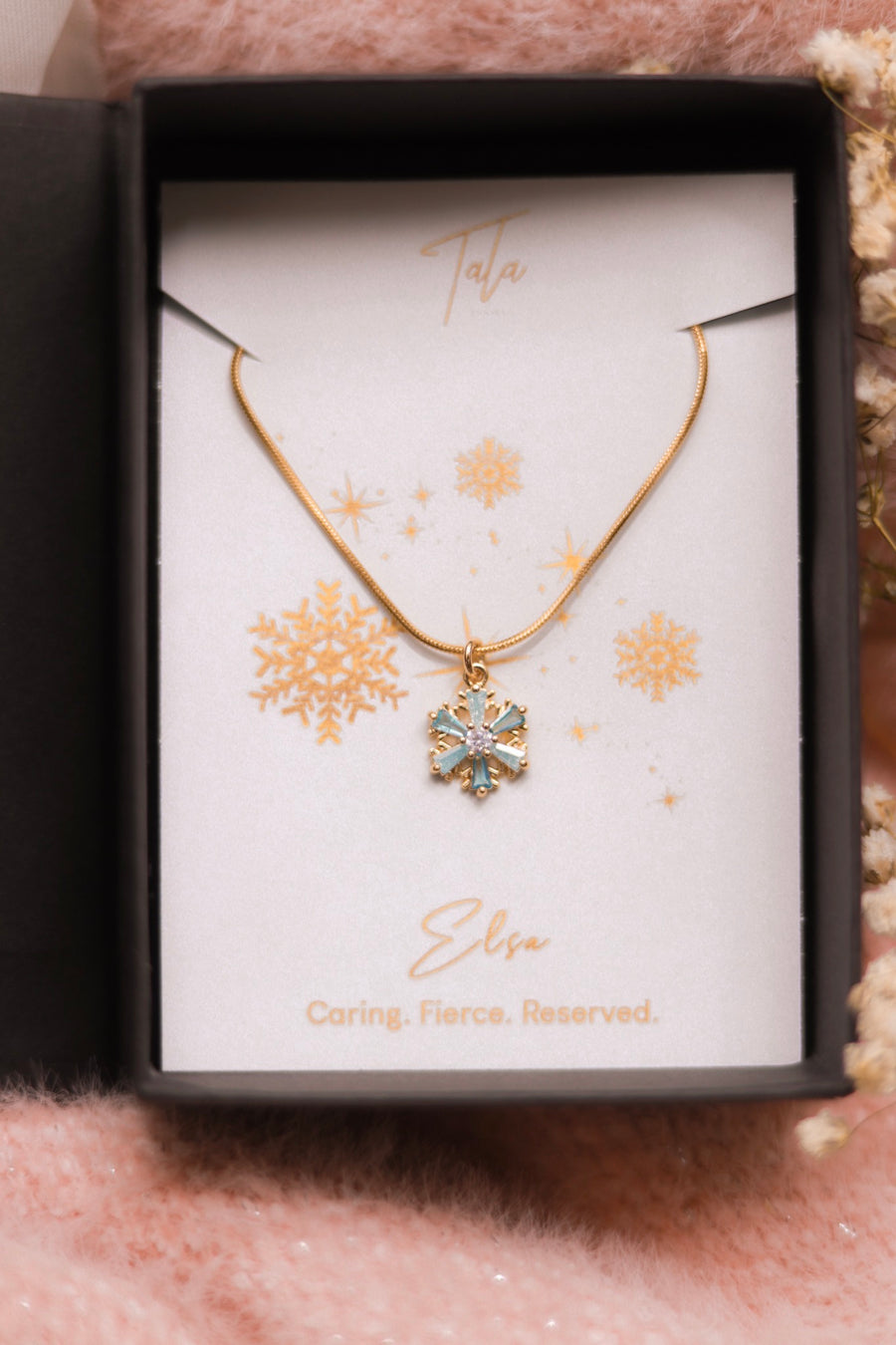 Elsa Iced Blue Snowflake Necklace