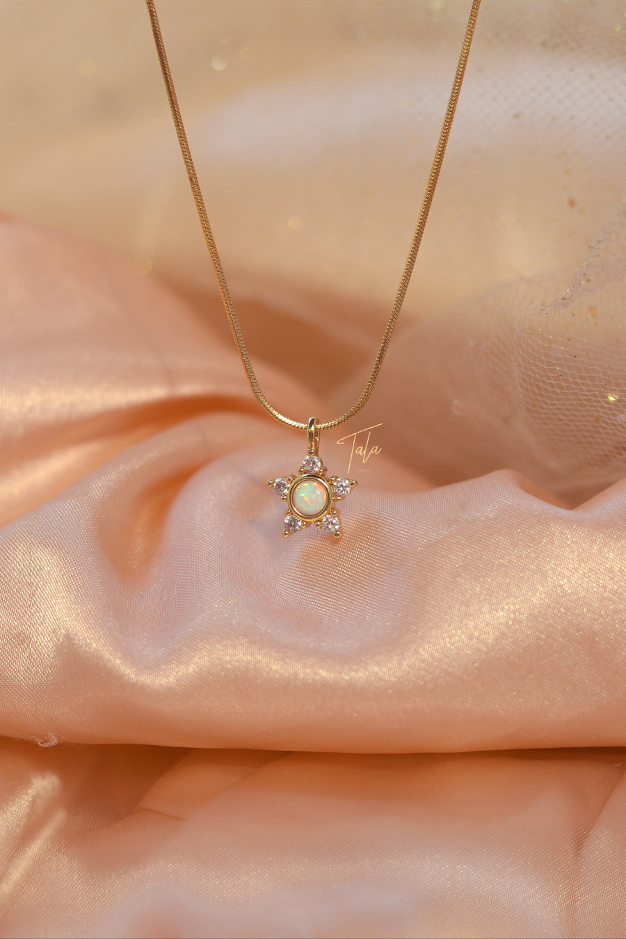 Dainty Star Opal Necklace