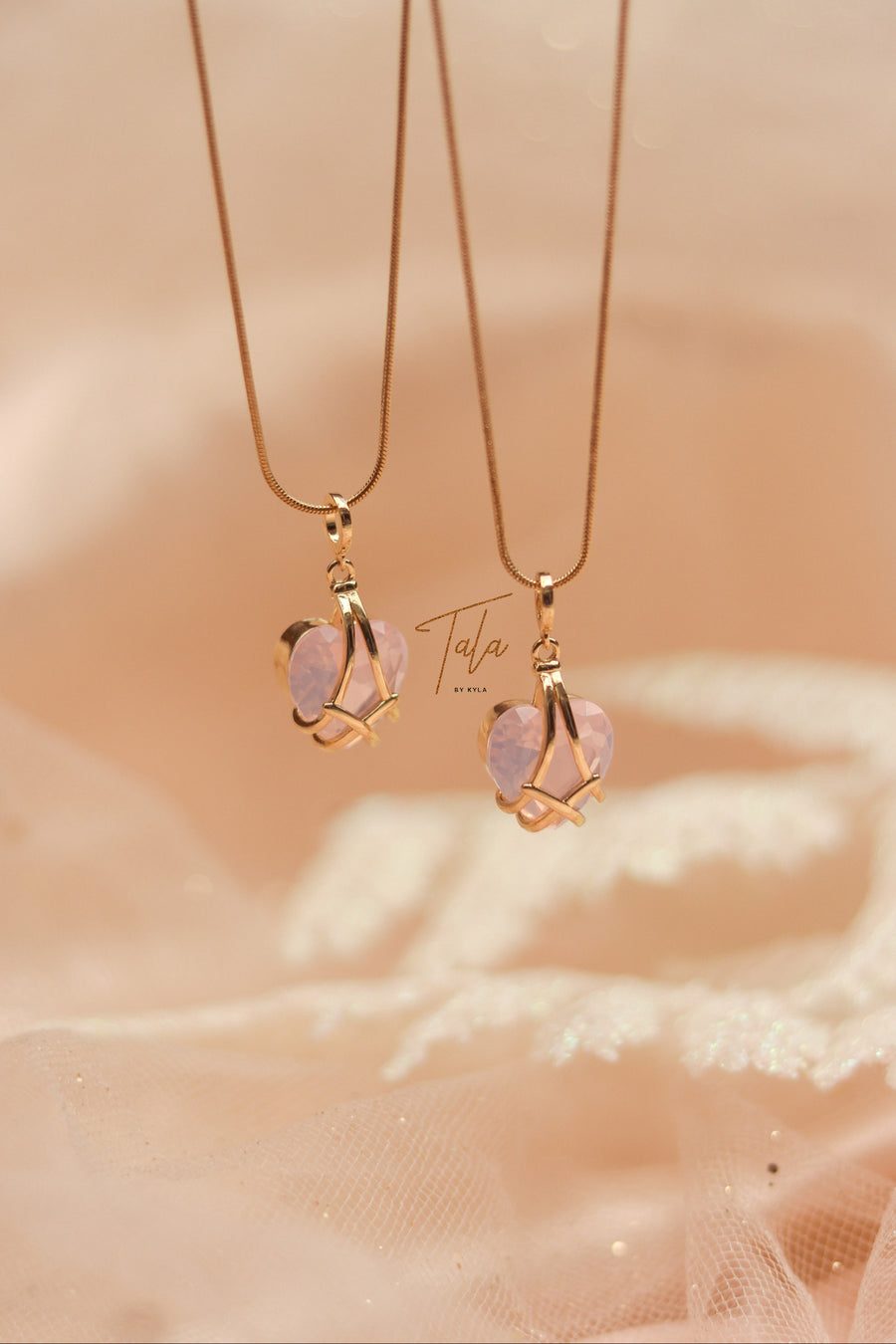 Tala by Kyla Diamond Heart Necklace