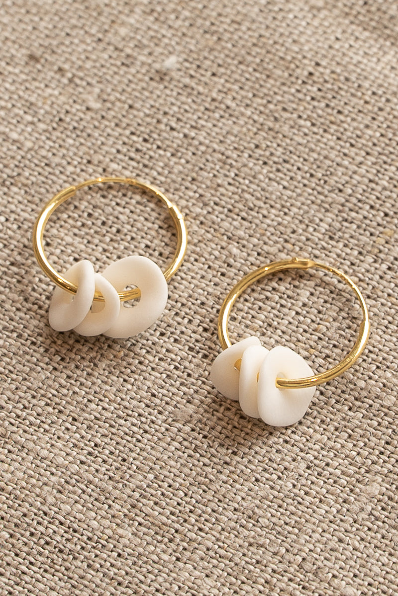 Completedworks White Ceramic Earrings