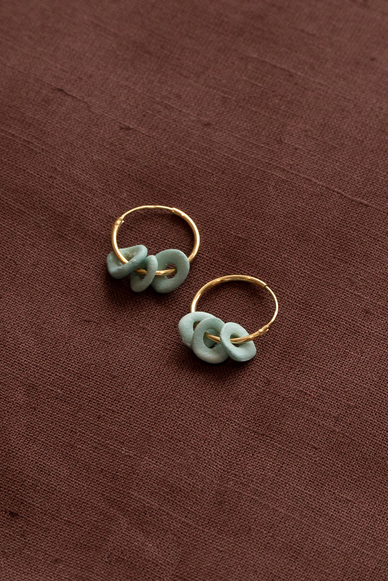 Completedworks Green Ceramic Earrings