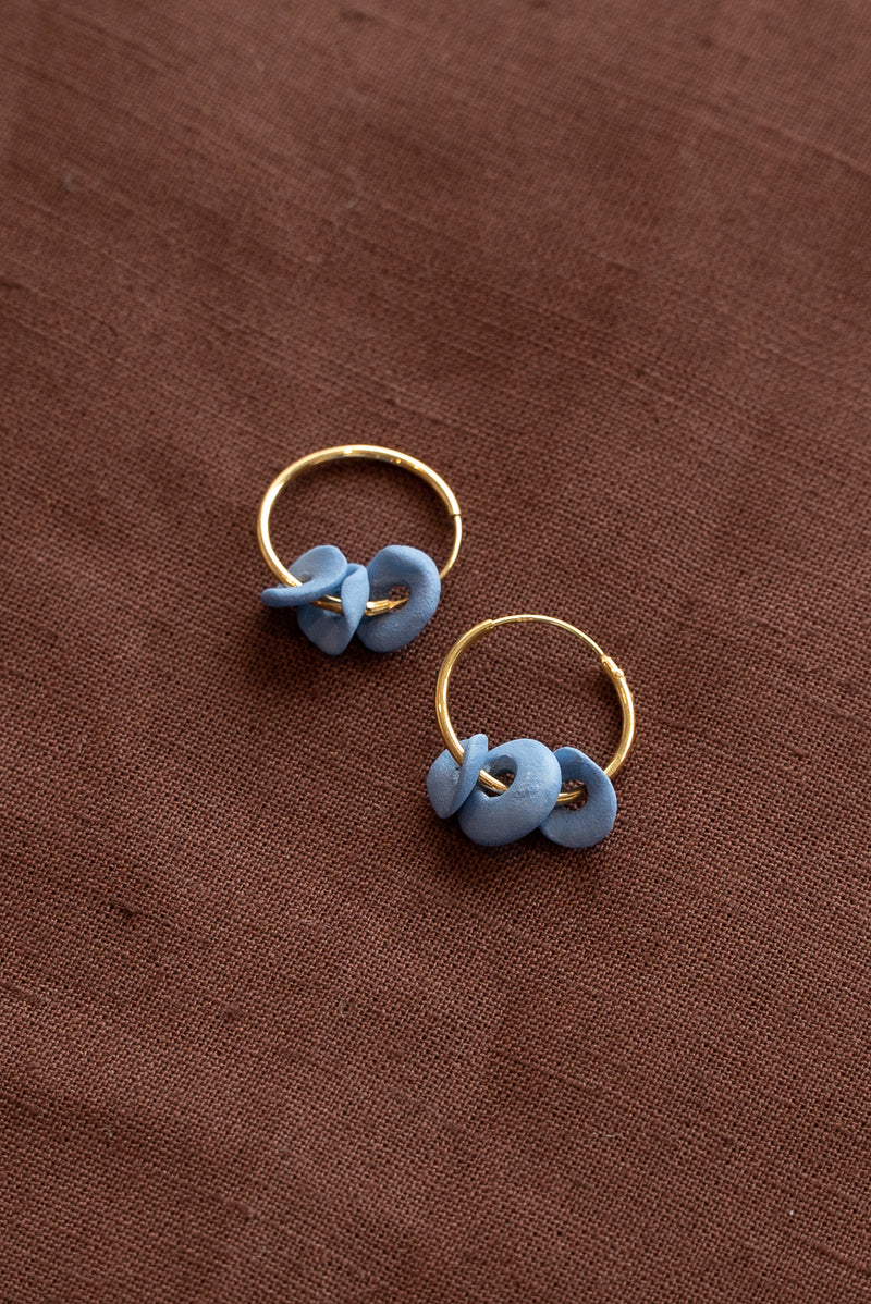 Completedworks Blue Ceramic Earrings