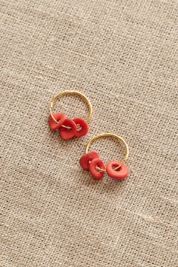 Completedworks Red Ceramic Earrings
