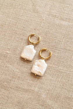 Sandralexandra Square Pearl Earrings