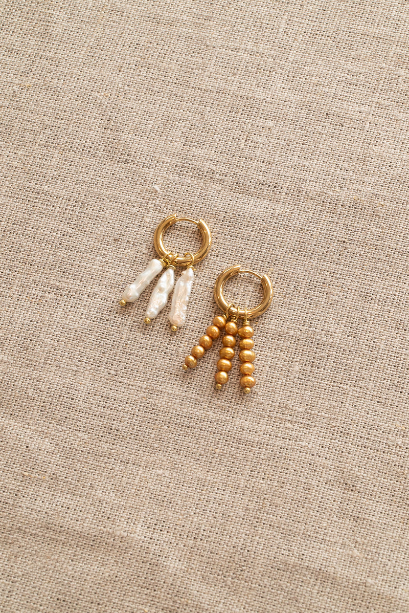 Sandralexandra Tripode and Maia Pearl Earrings