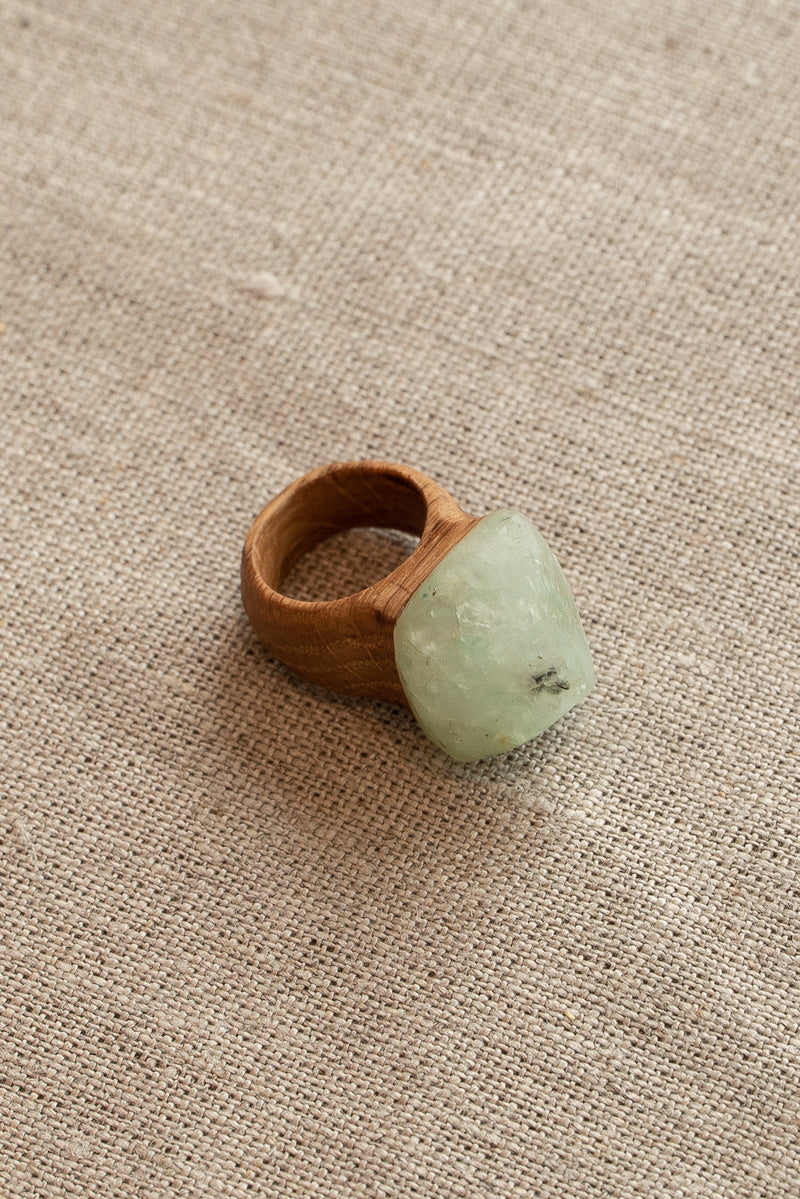 Waiata Apophylite and Oak Ring