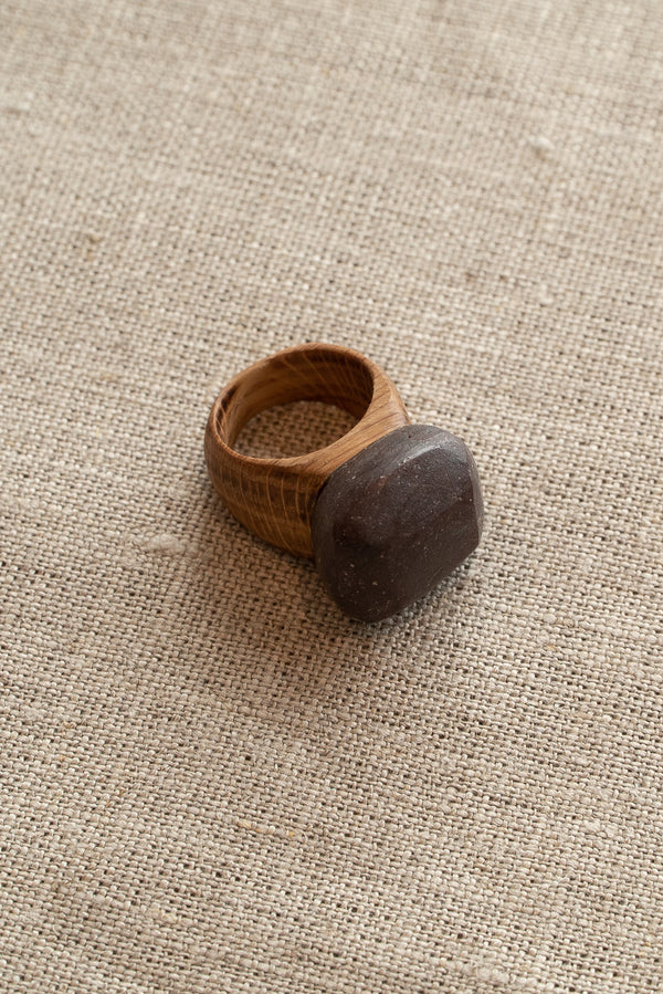 Waiata Garnet and Oak Ring