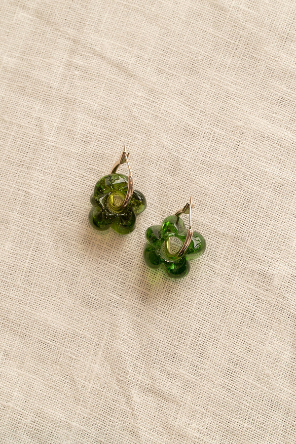 Sisi Joia Green Fleur Earrings