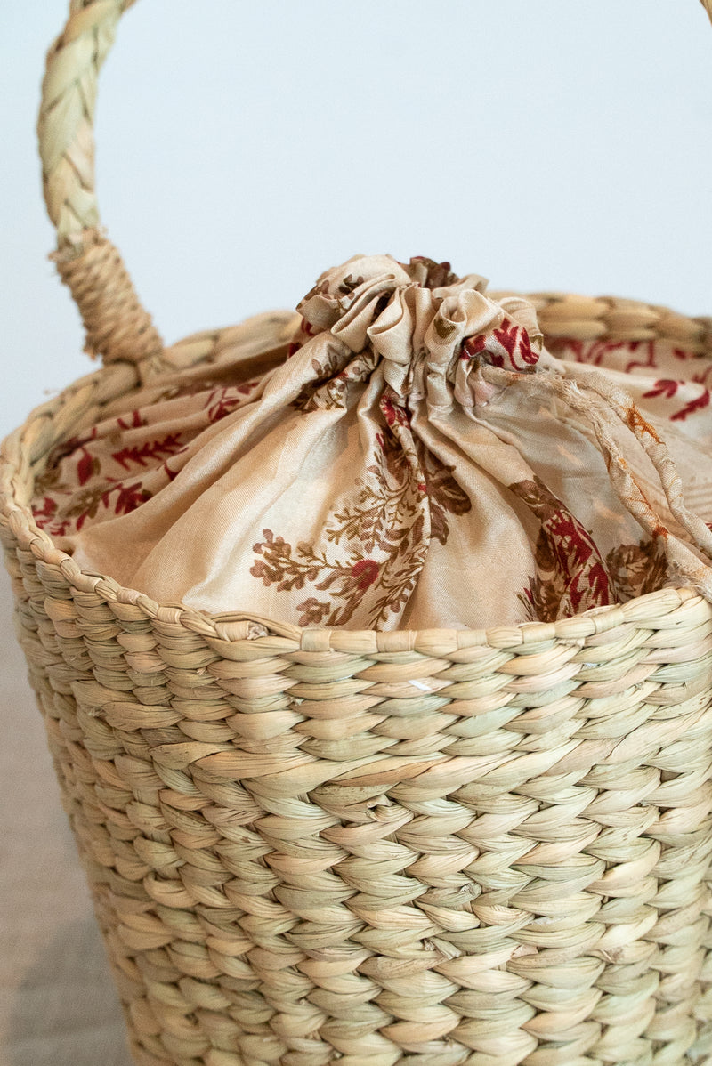 Mehrotra Mini Round Straw Bag