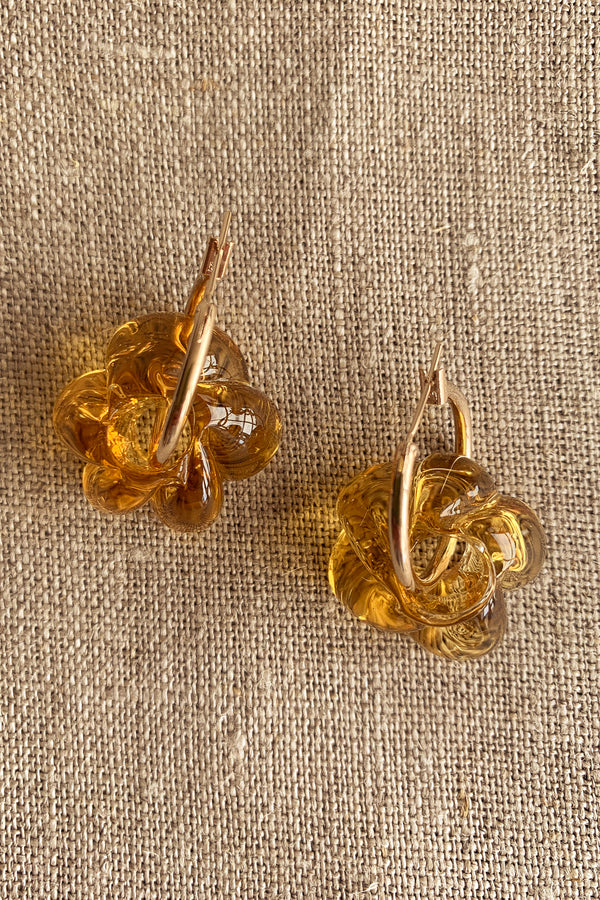 Sisi Joia Medium Orange Fleur Earrings