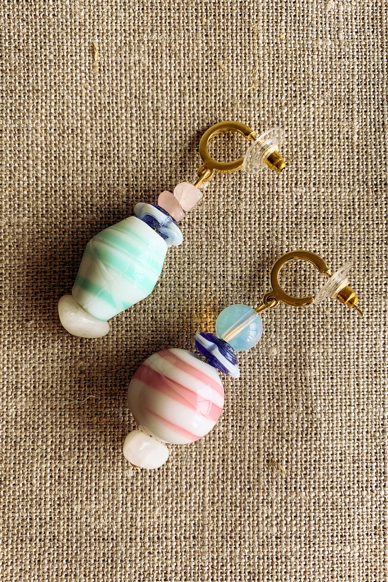 Jacquinii x DODA multicoloured voyage earrings