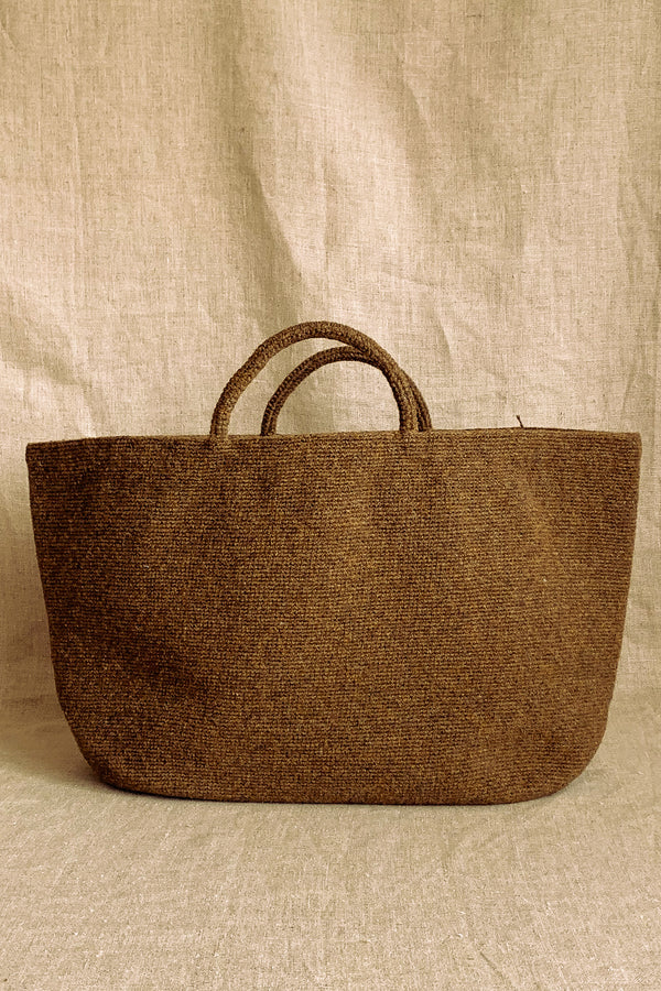 Sophie Digard Brown Wool Bag