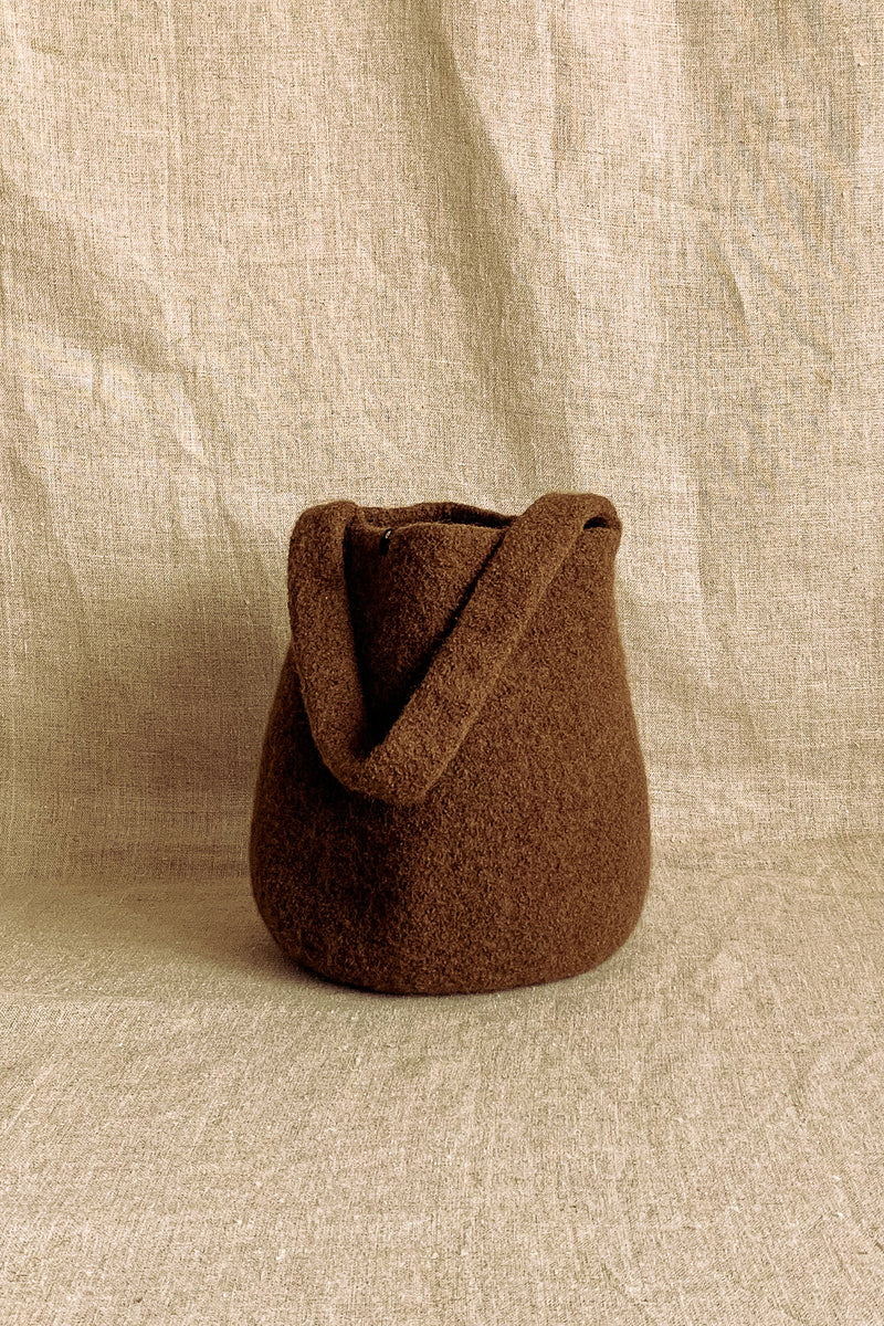 Cecilie Telle Mid Brown Small Bucket Bag