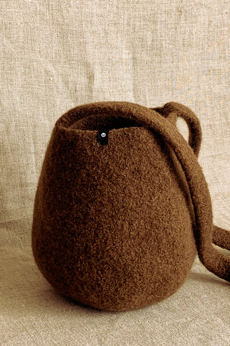 Cecilie Telle Mid Brown Smallest Bucket Bag