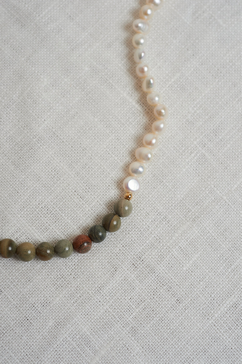 On The Nature Of Things bead and nugget pearl necklace