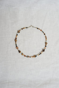 Sasha Stone Coffee And Cream Necklace