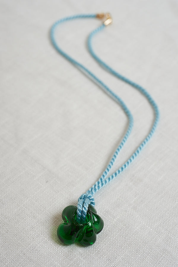 Sisi Joia Blue And Green Fleur Necklace