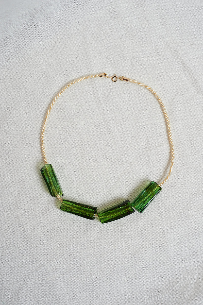 Sisi Joia Green and Cream Gelat Necklace