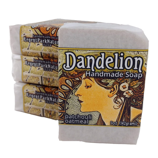 dandelion patchouli soap all natural