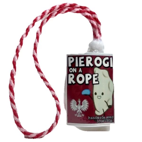 pierogi gift polish soap on a rope pyrohy