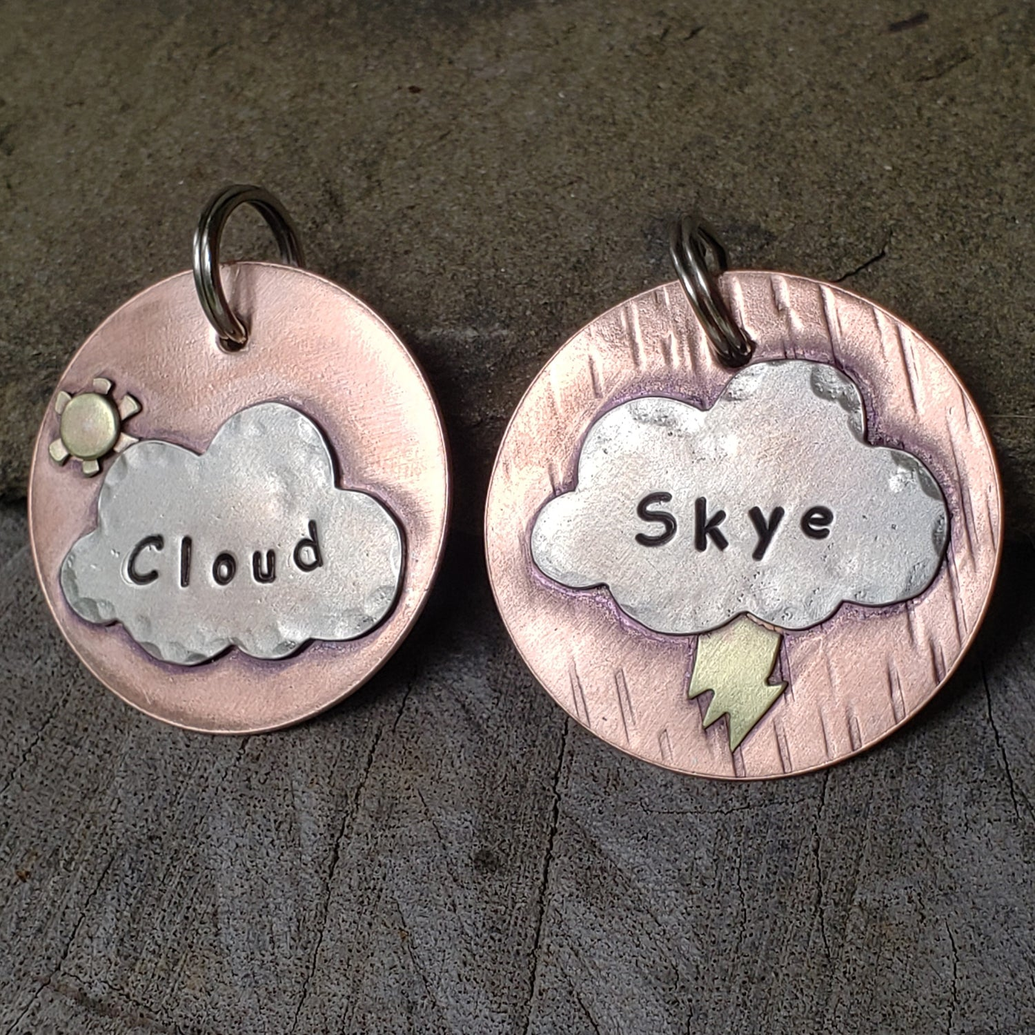 Metal Cloudy Tag