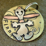 Dancing Happy Dog Tag