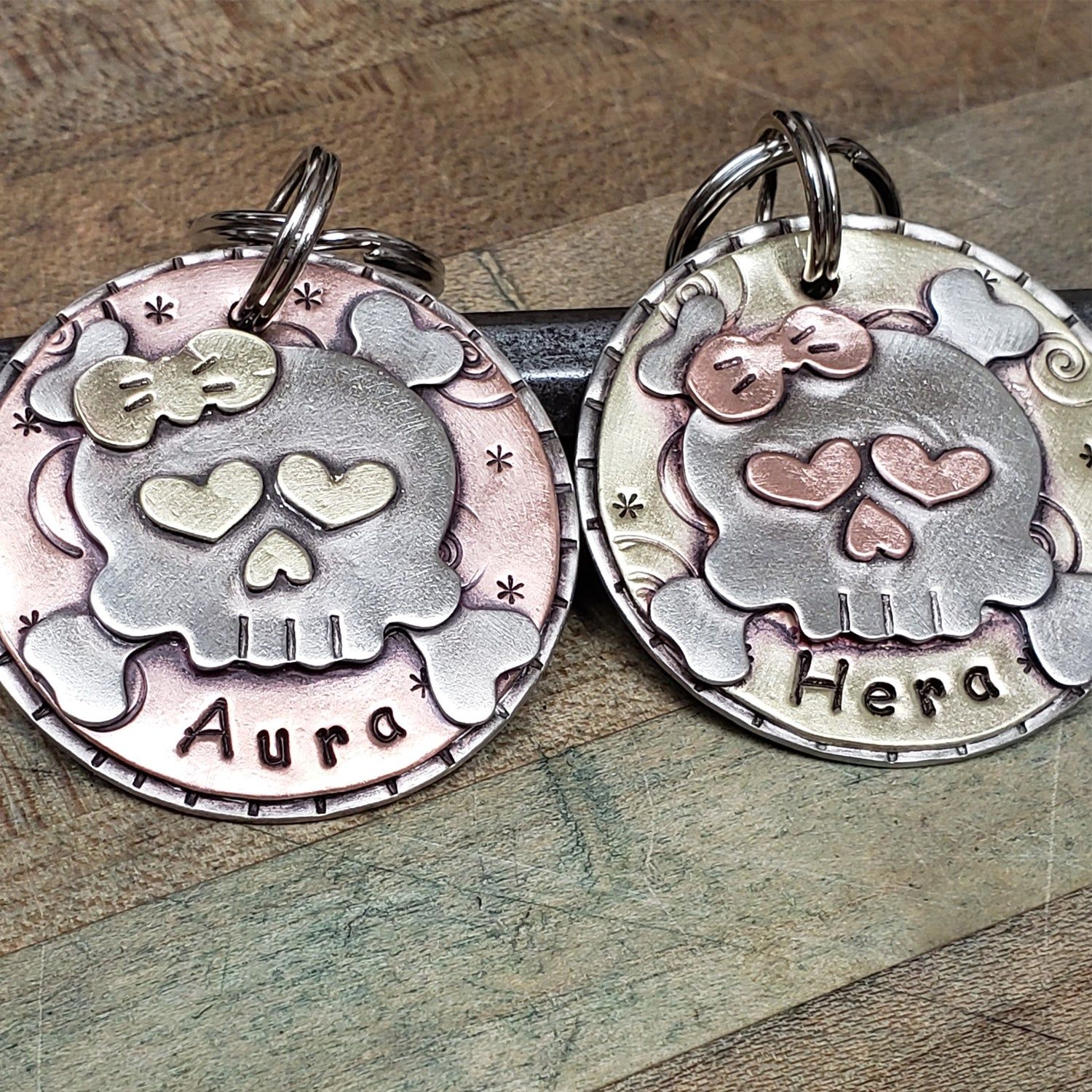 Girl Sugar Skull Tag