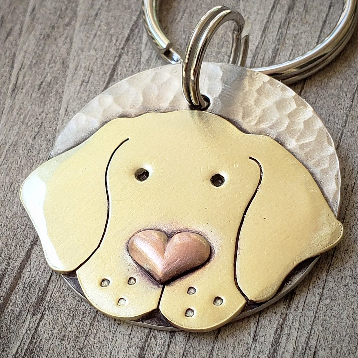 Lab with Heart Nose Tag