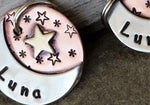 Small Moon & Stars Tag