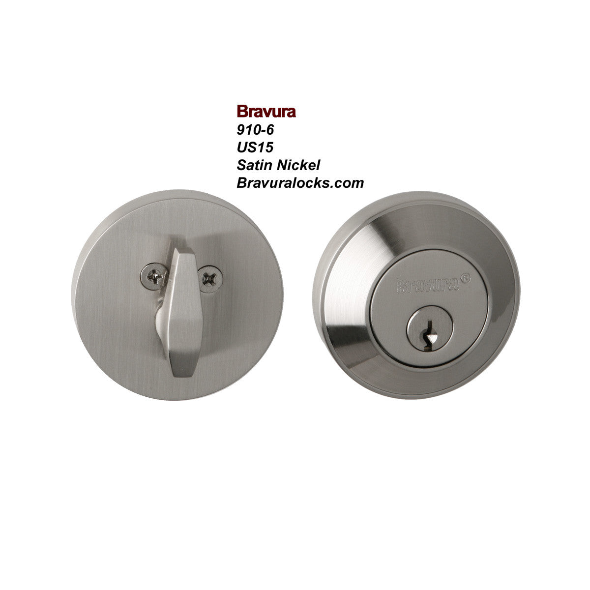 Bravura 910-6 Deadbolt Exterior Door Lock - Solid Forged Brass ...