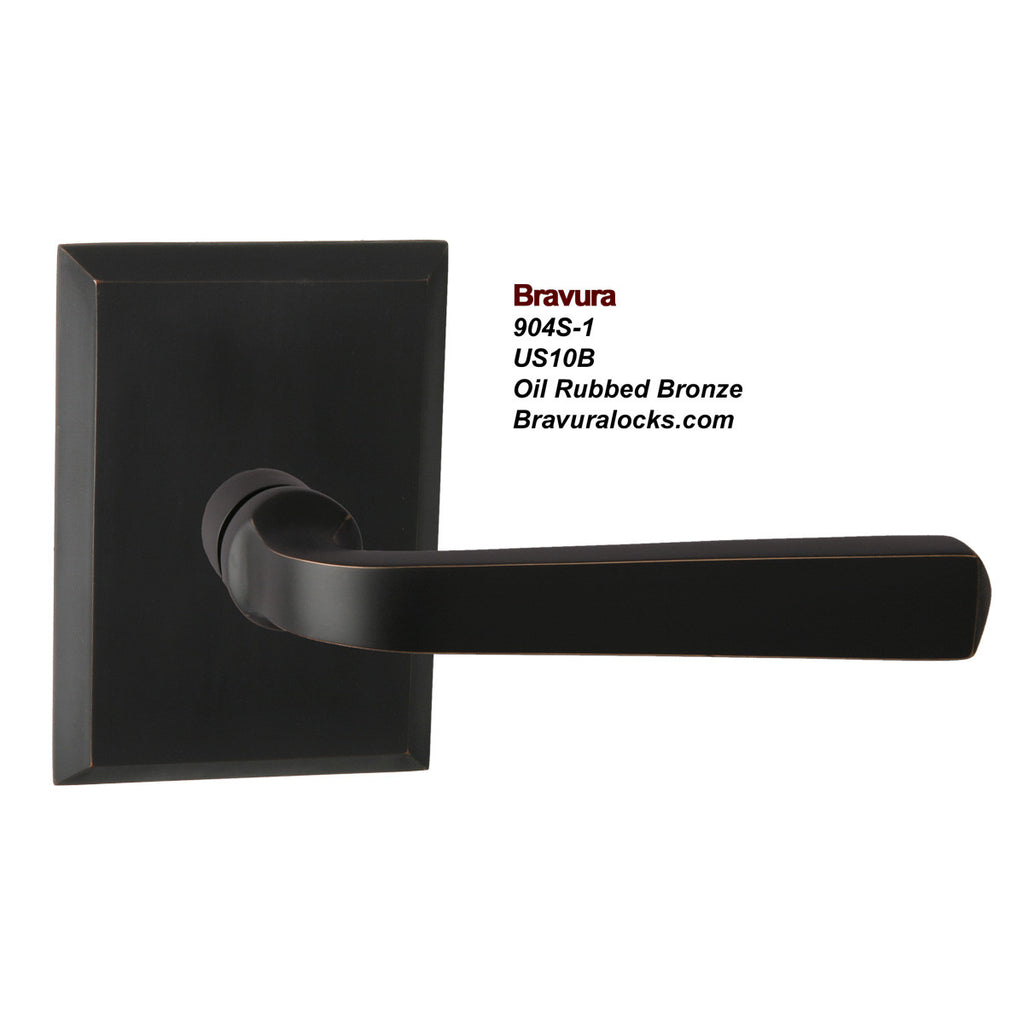 Bravura 904S-1 Interior door lever, Privacy, Passage, Bedroom, Bathroom, Closet, Oil Rubbbed Bronze