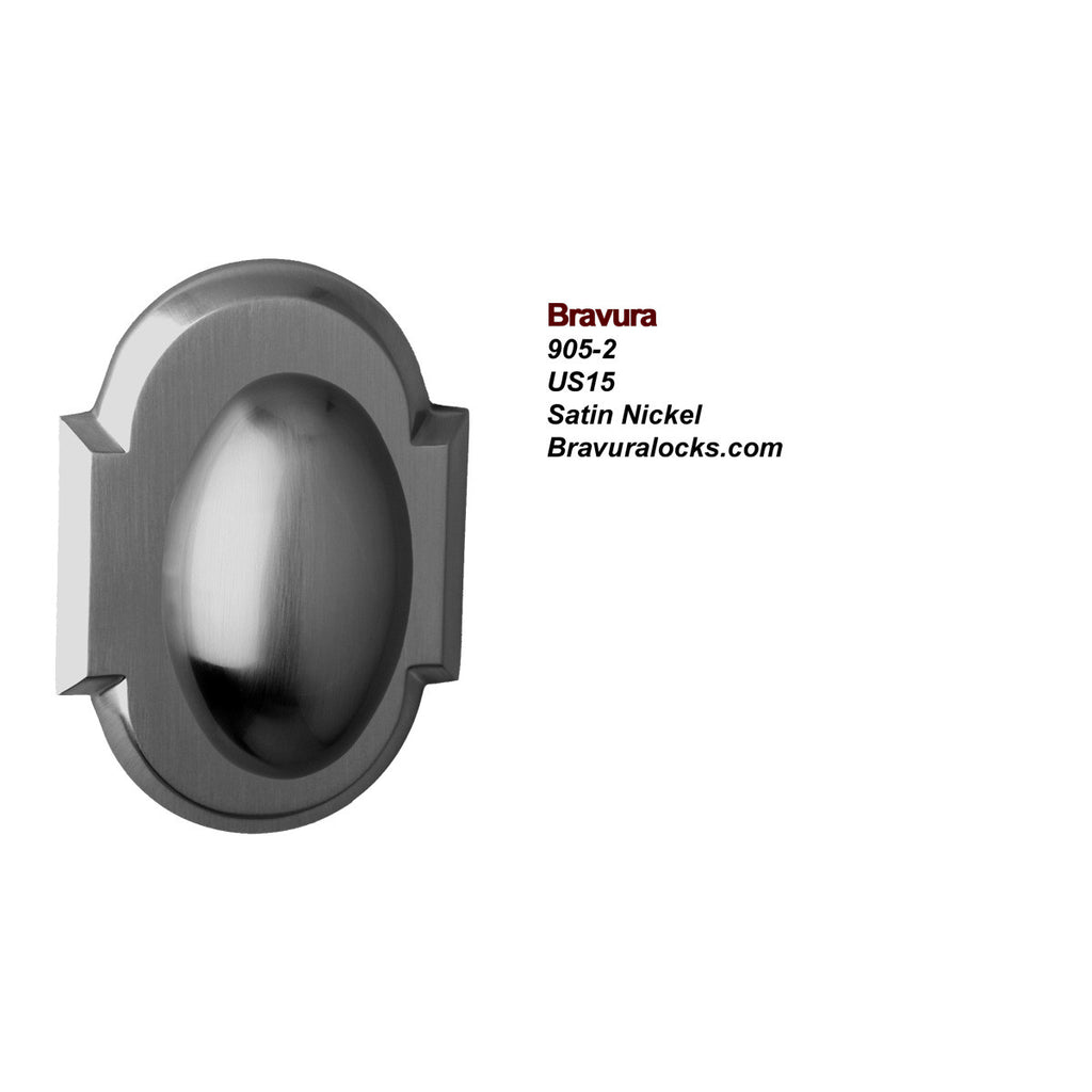 Bravura 905-2 Interior door knob, Privacy, Passage, Bedroom, Bathroom, Closet, Satin Nickel