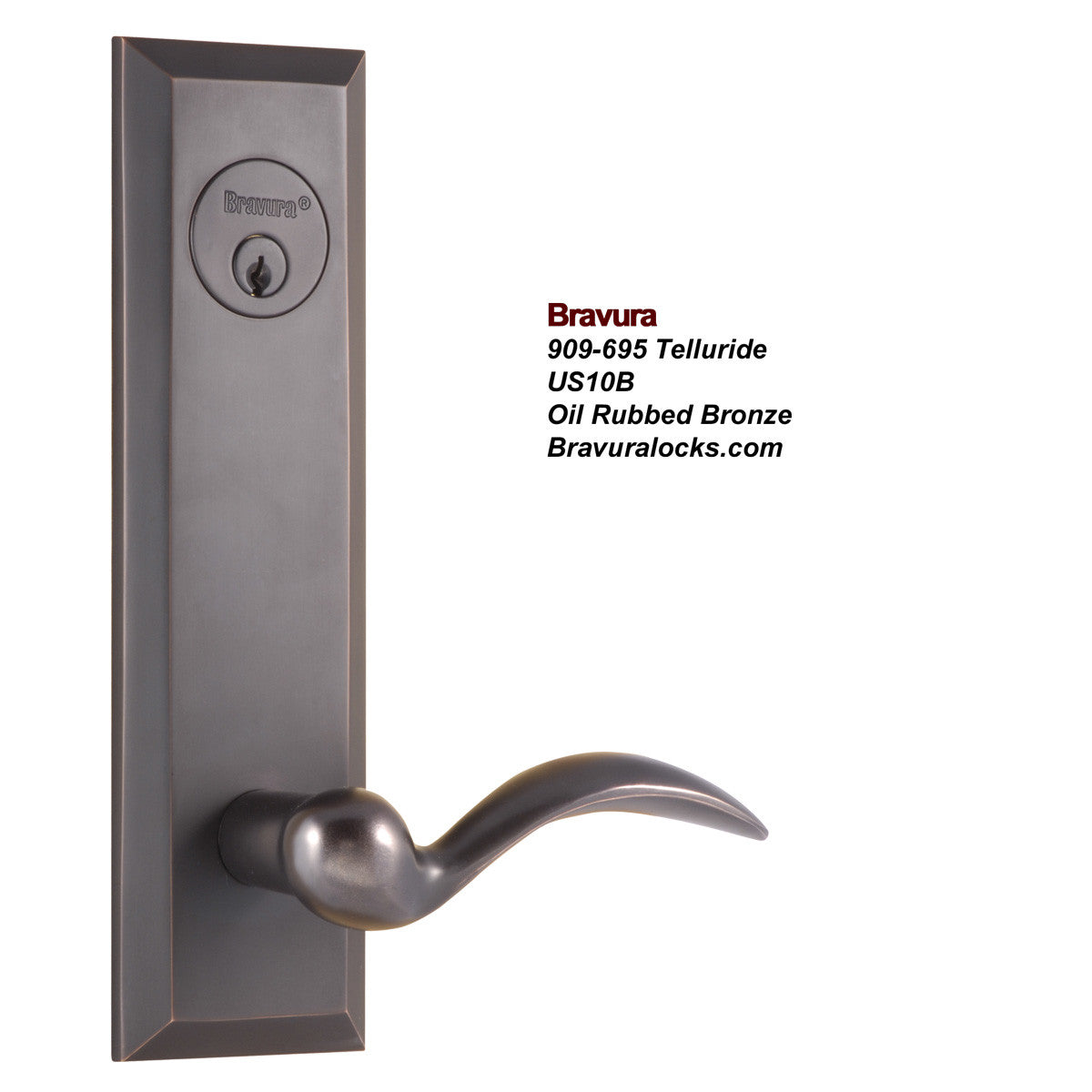 Bravura 695 Exterior Door Lock & Deadbolt - Solid Forged Brass ...