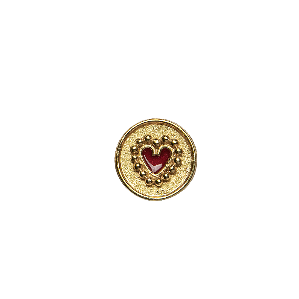 Single Topo Circle Heart  Mini
