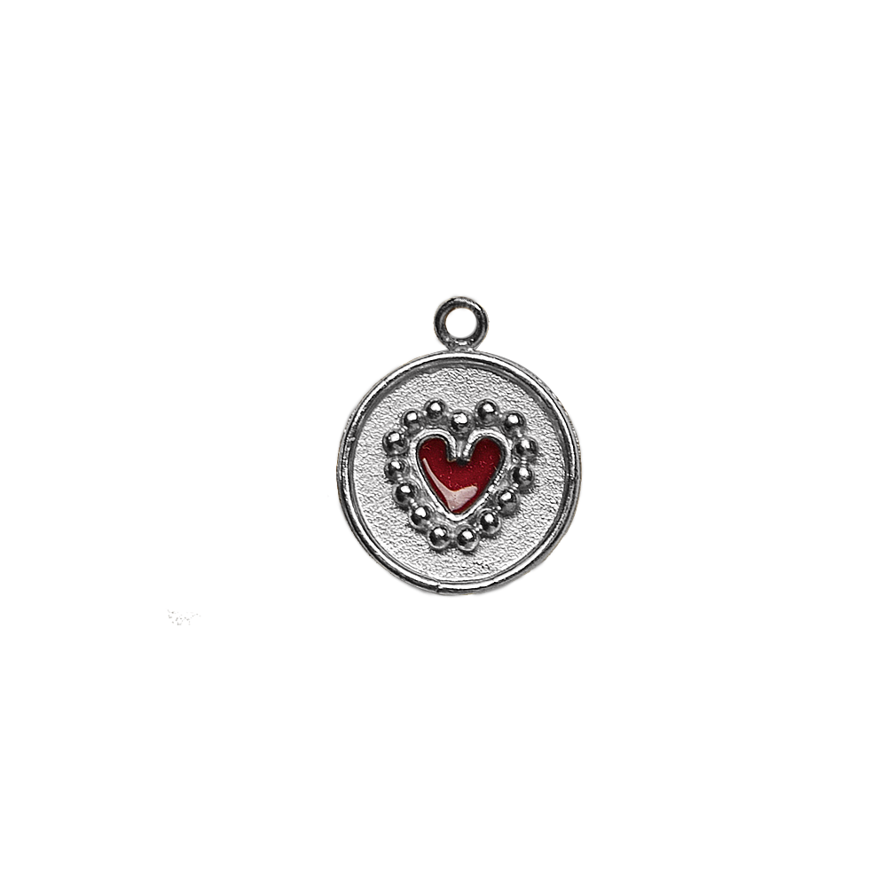 Single Dije Circle Heart Plata