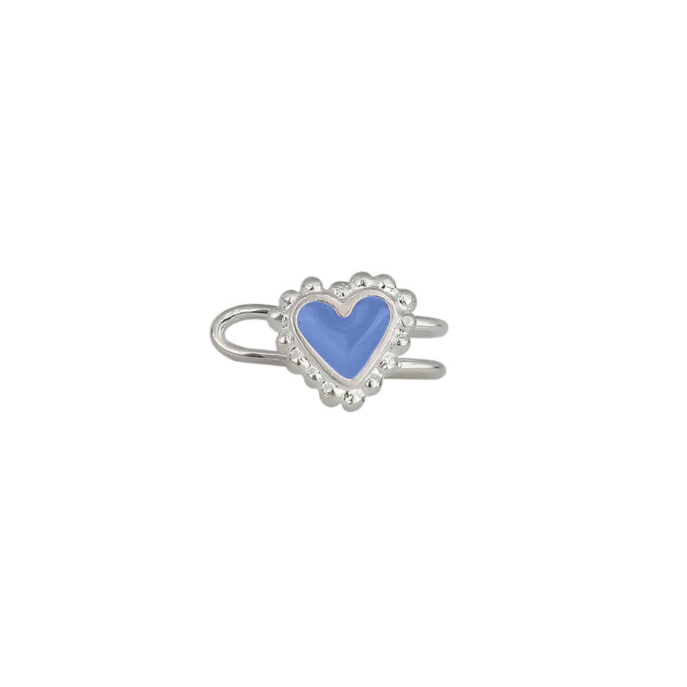 Beating Hearts Single Earcuff Silver