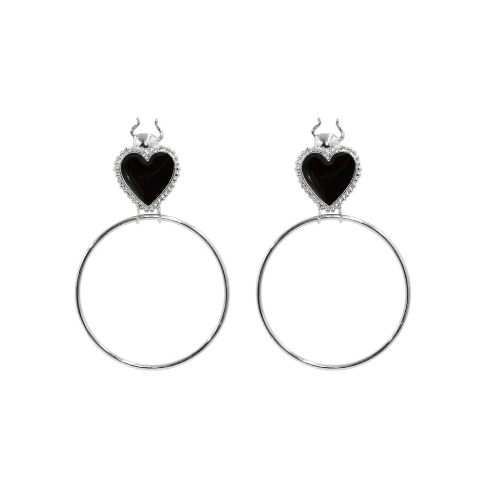 Fortune Bug Earrings Silver